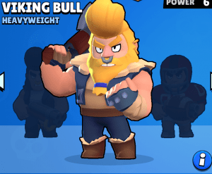 viking bull , one of the best skins in brawl stars