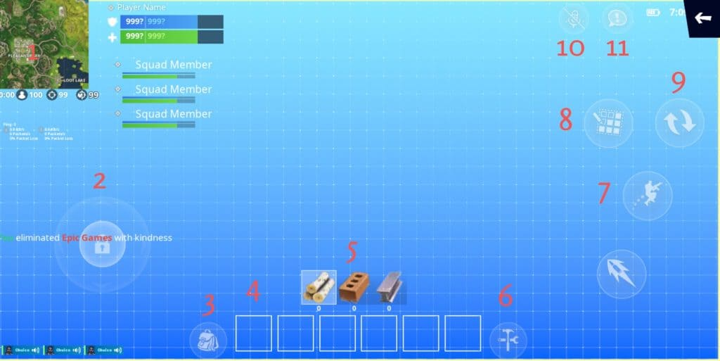 building mode hud best hud setup fortnite mobile