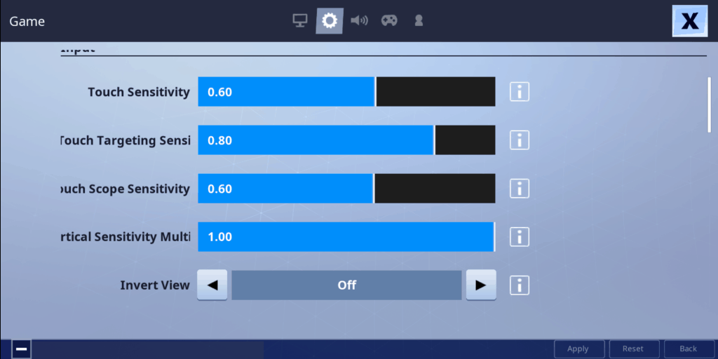 best Touch sensitivity settings fortnite mobile