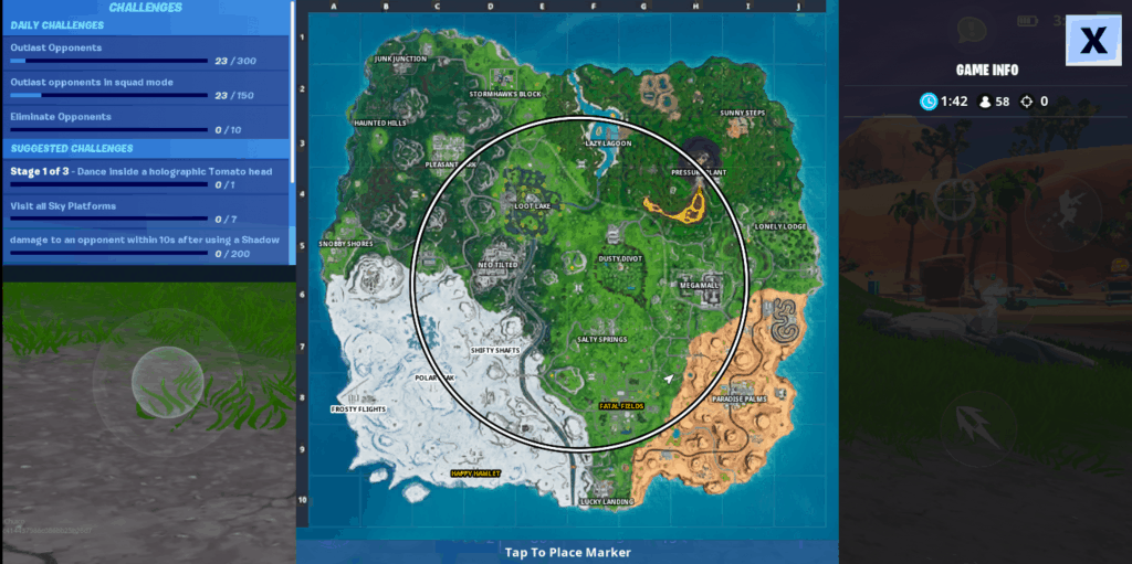 peek map how to get better fortnite mobile
