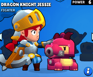 dragon knight jessie best brawl stars skin