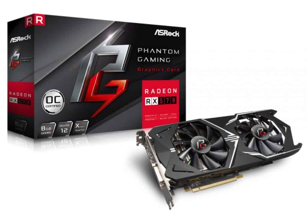 ASRock Phantom Gaming X Radeon RX 570 DirectX 12 best graphics card brands