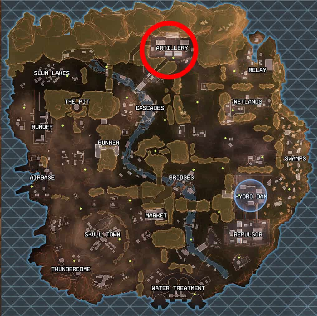 Artillery best landing spot apex legends