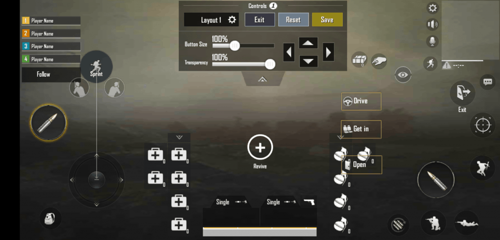Basic Layout best button layout pubg mobile