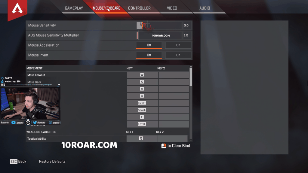 Best Apex Legends Settings mouse
