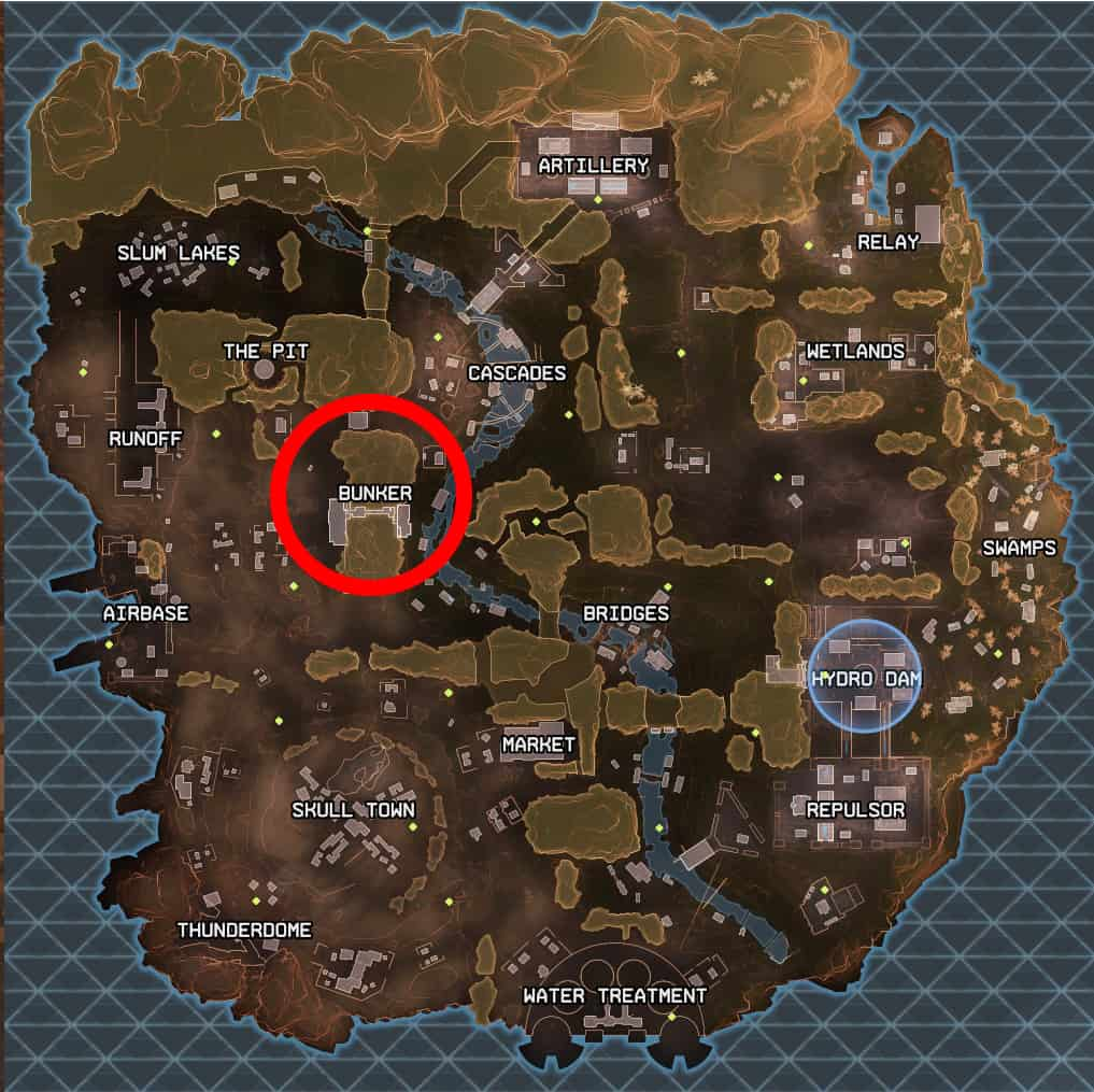 Bunker best landing spot apex legends