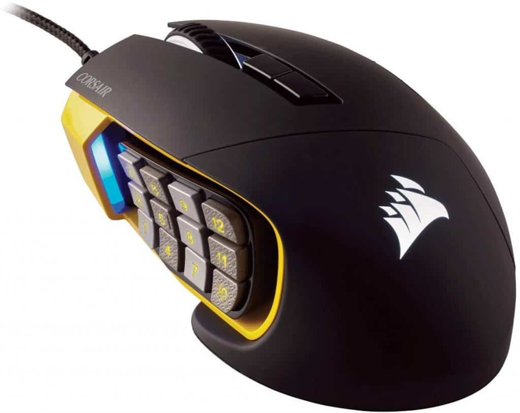 CORSAIR Scimitar Pro RGB - MMO Gaming Mouse - 16,000 DPI Optical Sensor - 12 Programmable Side Buttons review best gaming mouse for eso elder scrolls online