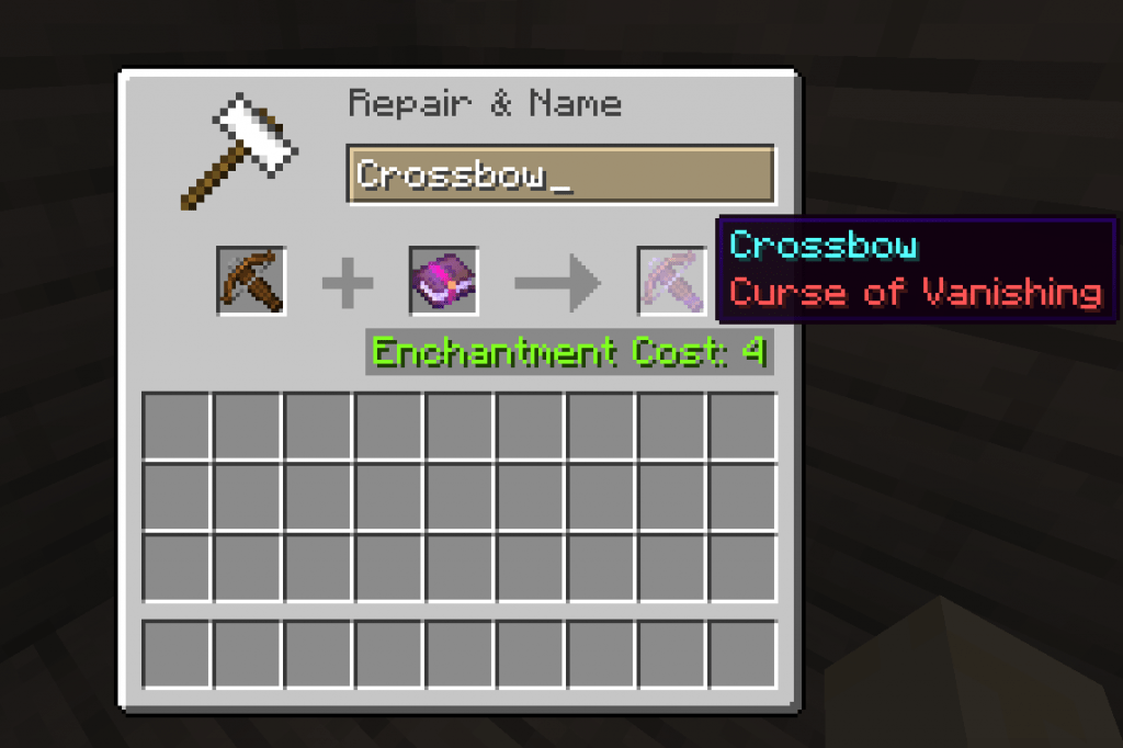 Curse of Vanishing best crossbow enchantments minecraft