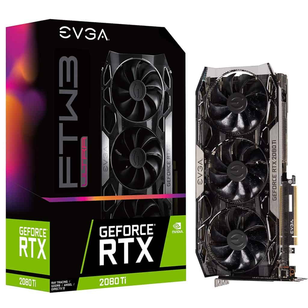 EVGA GeForce RTX 2080 Ti FTW3 Ultra Gaming, 11GB GDDR6, iCX2 & RGB LED Graphics Card 11G-P4-2487-KR best graphic card for rust