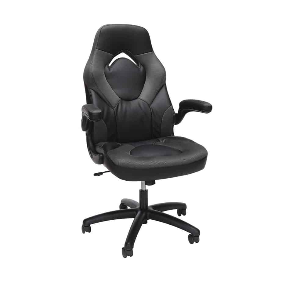 Essentials Racing Style Leather Gaming Chair - Ergonomic Swivel Computer, Office or Gaming Chair, Gray review best gaming chair for long hours