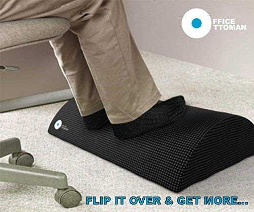 Foot Rest Under Desk Non-Slip Ergonomic Footrest Foam Cushion review best gaming footrests