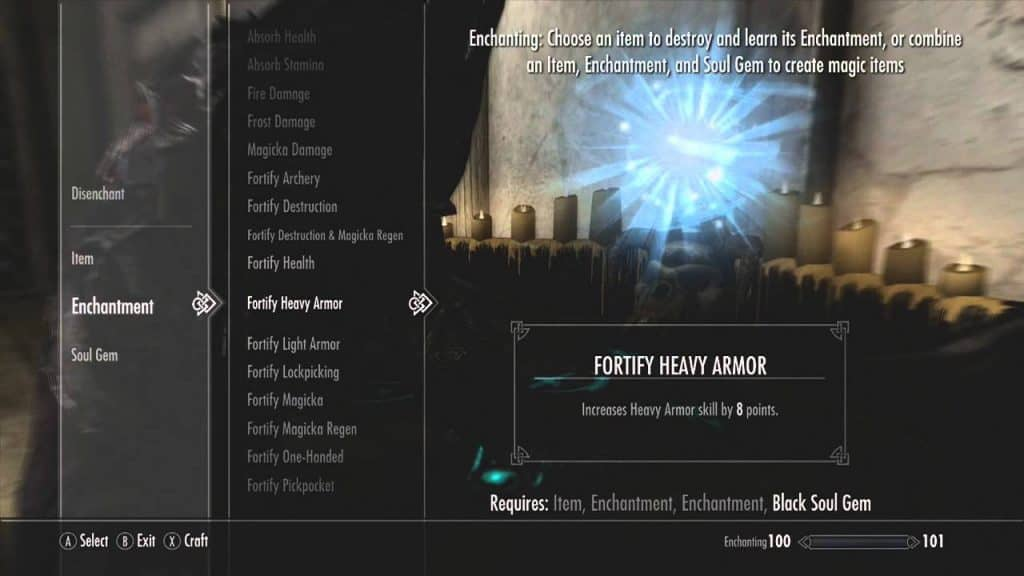 Fortify (Armor Skill) weapon best enchantments skyrim