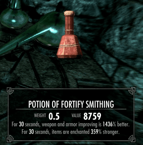 Fortify Smithing skyrim best potions
