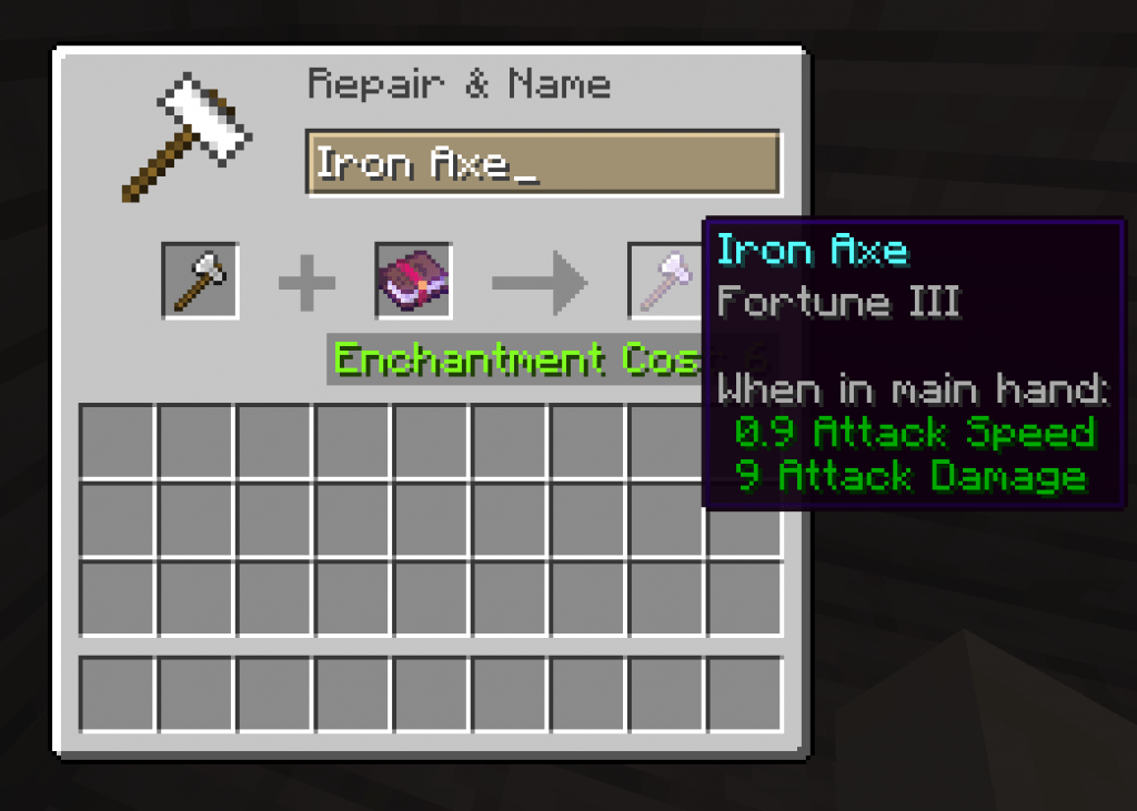 Fortune best axe enchantments minecraft