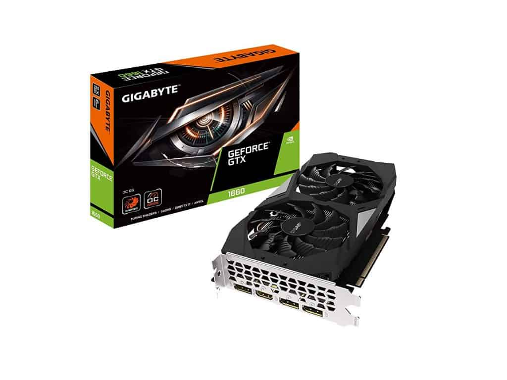 Gigabyte GeForce GTX 1660 OC 6G Graphics Card, 2X Windforce Fans, 6GB 192-bit GDDR5 best graphics card brands