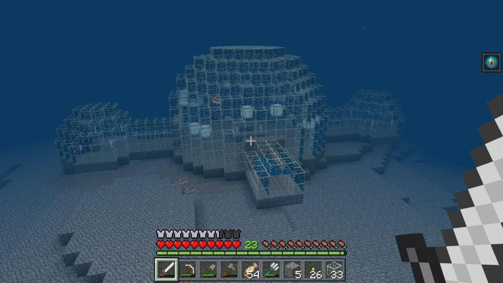 Glass underwater house things to do when you're bored in minecraft ideas