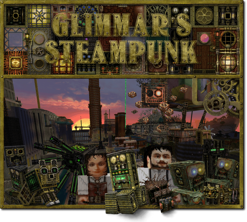 Glimmar's Steam Punk best texture packs minecraft java edition