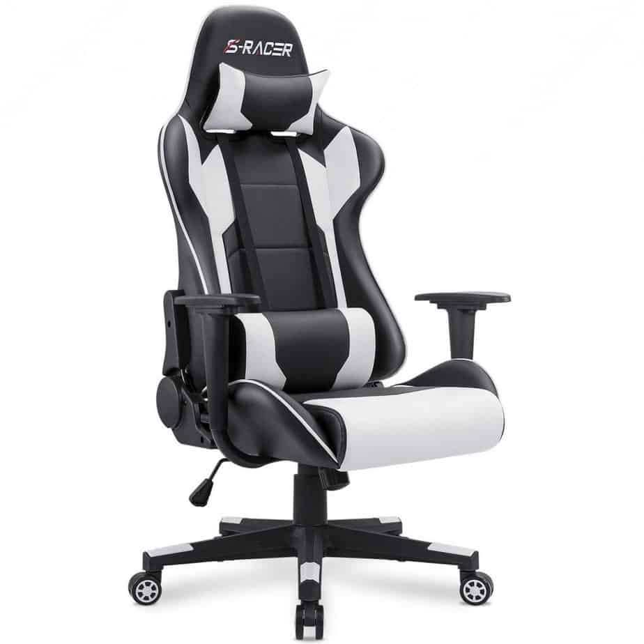 Homall Gaming Chair Office Chair High Back Computer Chair PU Leather Desk Chair PC Racing Executive Ergonomic Adjustable Swivel Task Chair best gaming chair for long hours