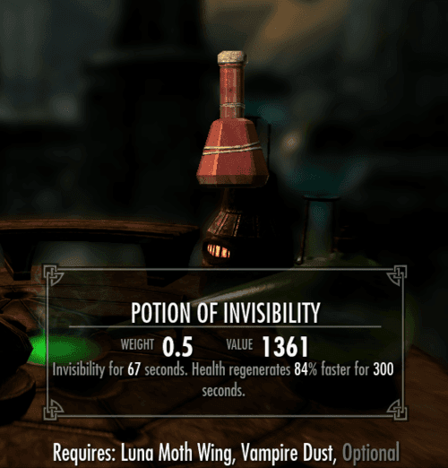 Invisibility best Potion skyrim