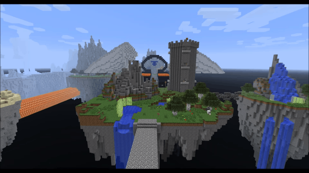 Kingdom Of The Sky best adventure maps minecraft