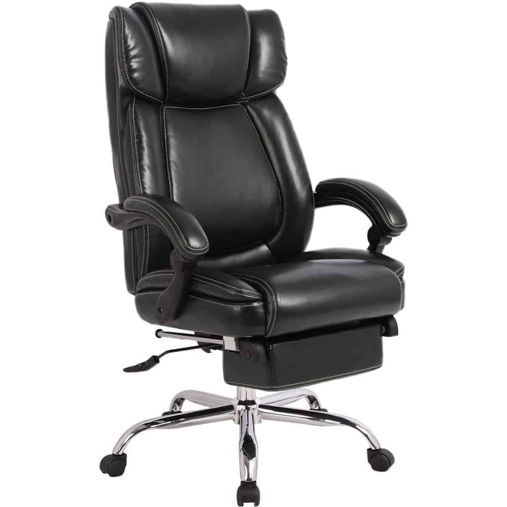 Merax Inno Series Executive High Back Napping Chair with Adjustable Pivoting Lumbar and Padded Footrest best gaming footrest review