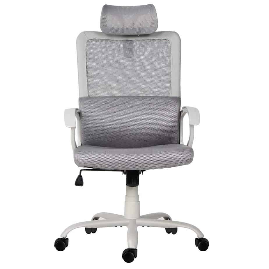 Office Chair, Mesh Office Chair, Ergonomic Office Desk Chair Computer Task Chair with Adjustable Headrest best gaming chair for long hours