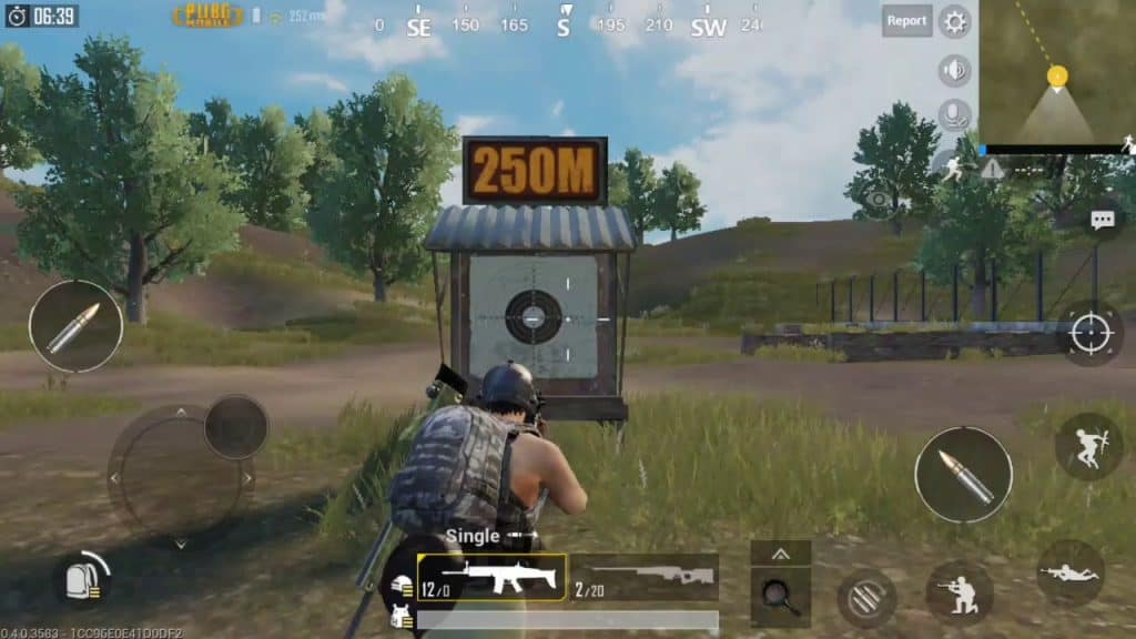 Practice in the Shooting Range best button layout pubg mobile