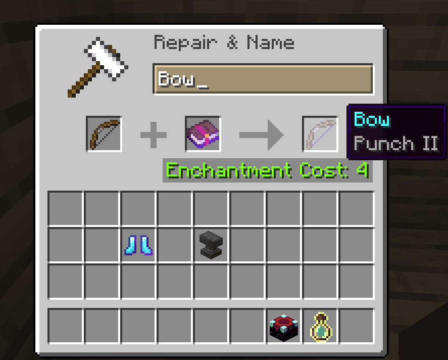Punch best bow enchantments minecraft