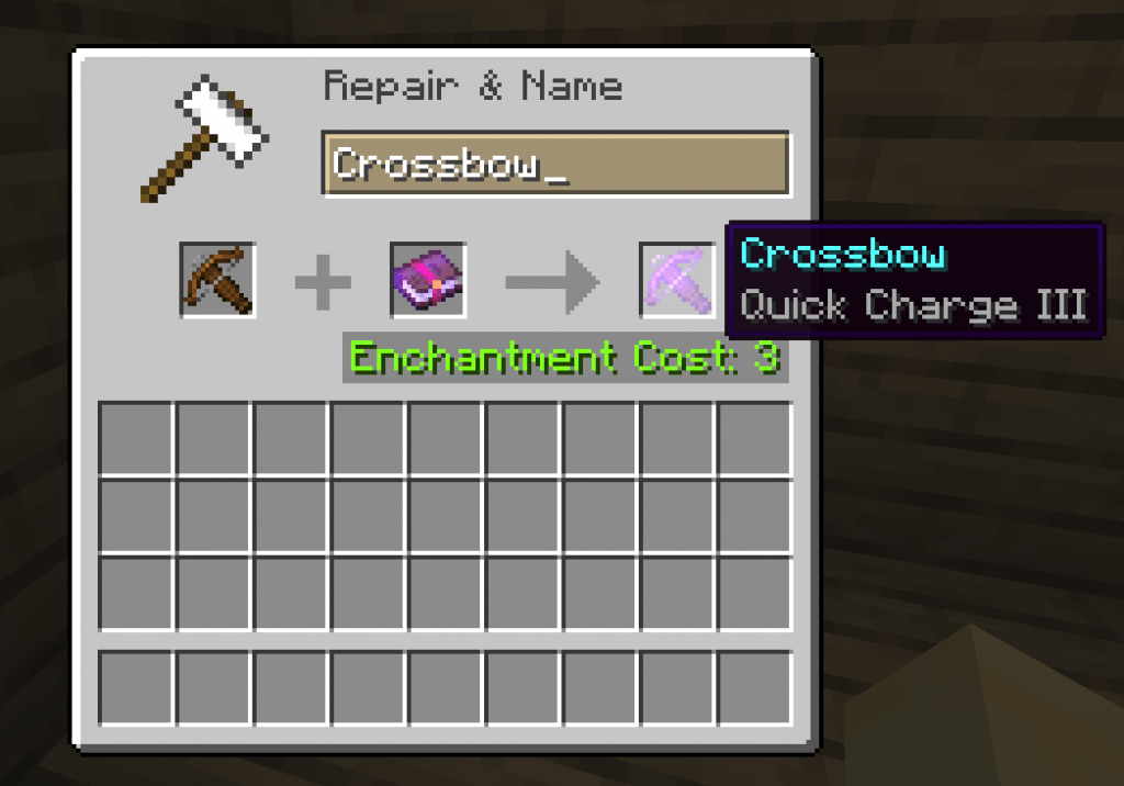 Quick charge best crossbow enchantment minecraft
