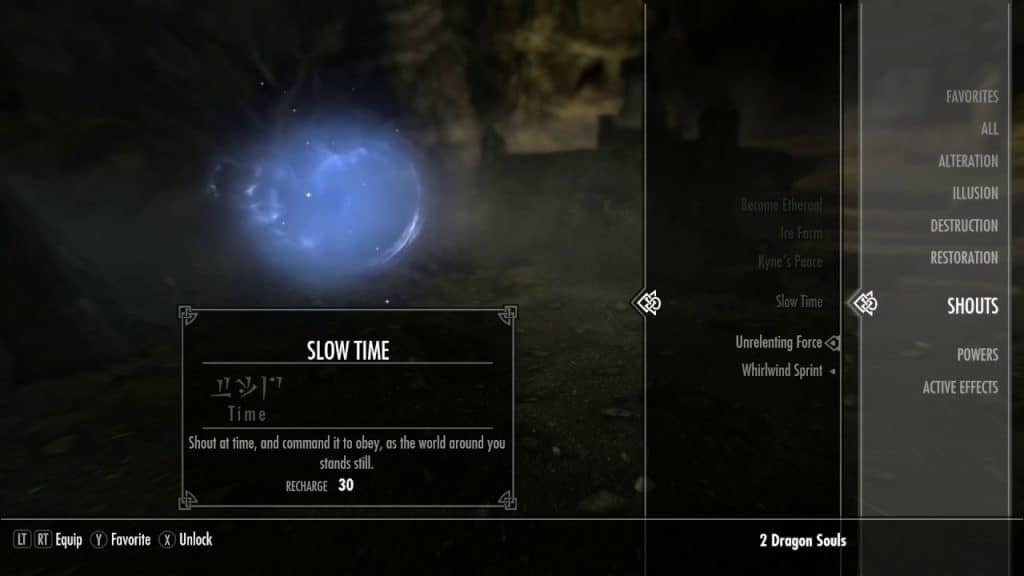 Slow Time best shouts skyrim