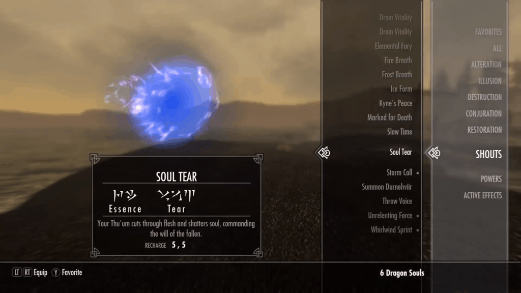Soul Tear best shouts skyrim