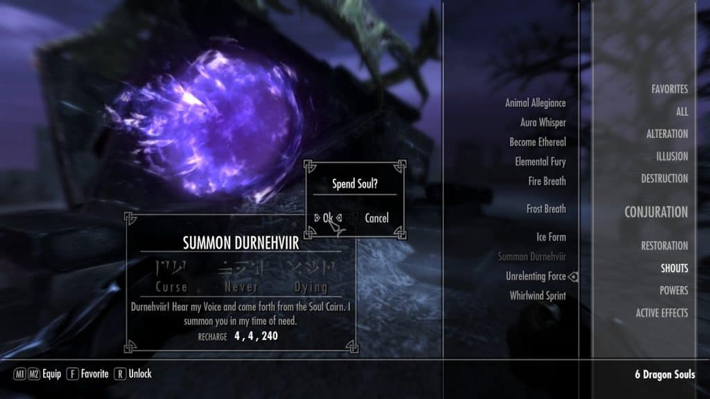 Summon Durnehviir best shouts skyrim