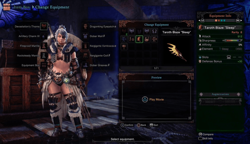 Taroth Blaze Sleep best greatsword monster hunter world