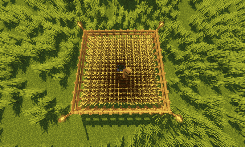 The Proper Crop Farm Layout (Wheat, Carrots, Potatoes, and Beetroot) minecraft
