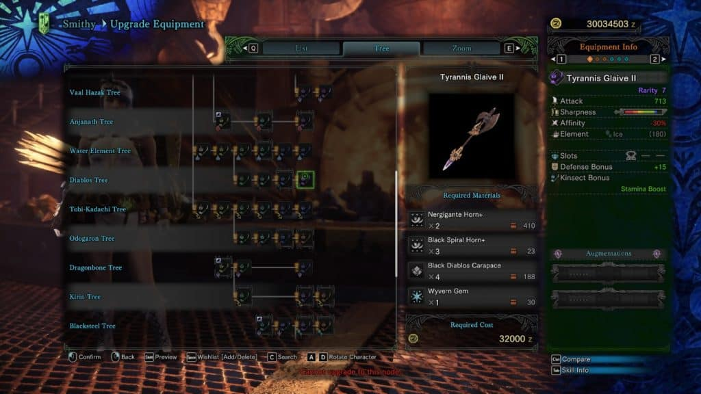 Tyrannis Glaive II best kinsect insect glaives monster hunter world