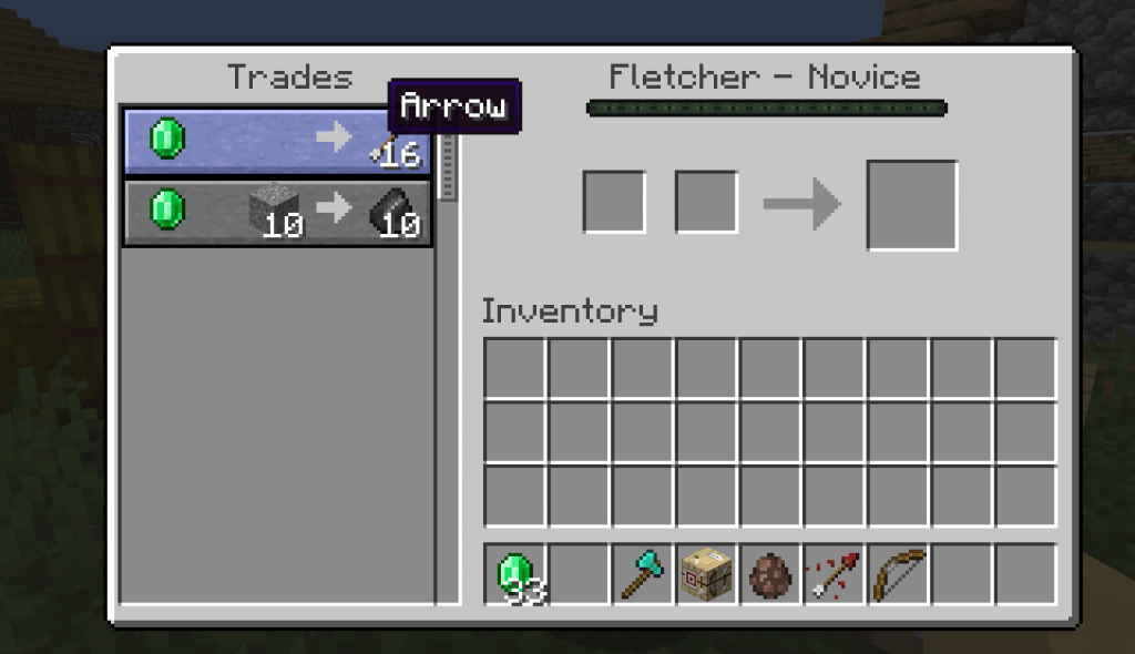 arrows fletcher best villager trades minecraft