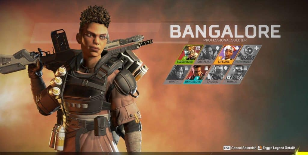 best apex legends character bangalore