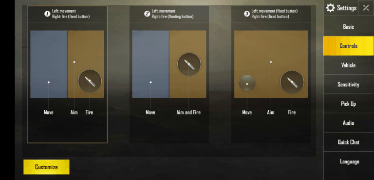 best button layout pubg mobile