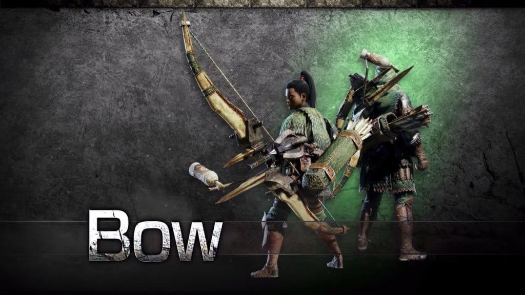 bow monster hunter world weapon