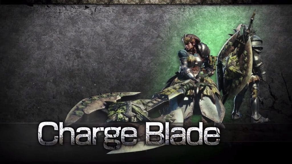 charge blade best monster hunter world solo weapon