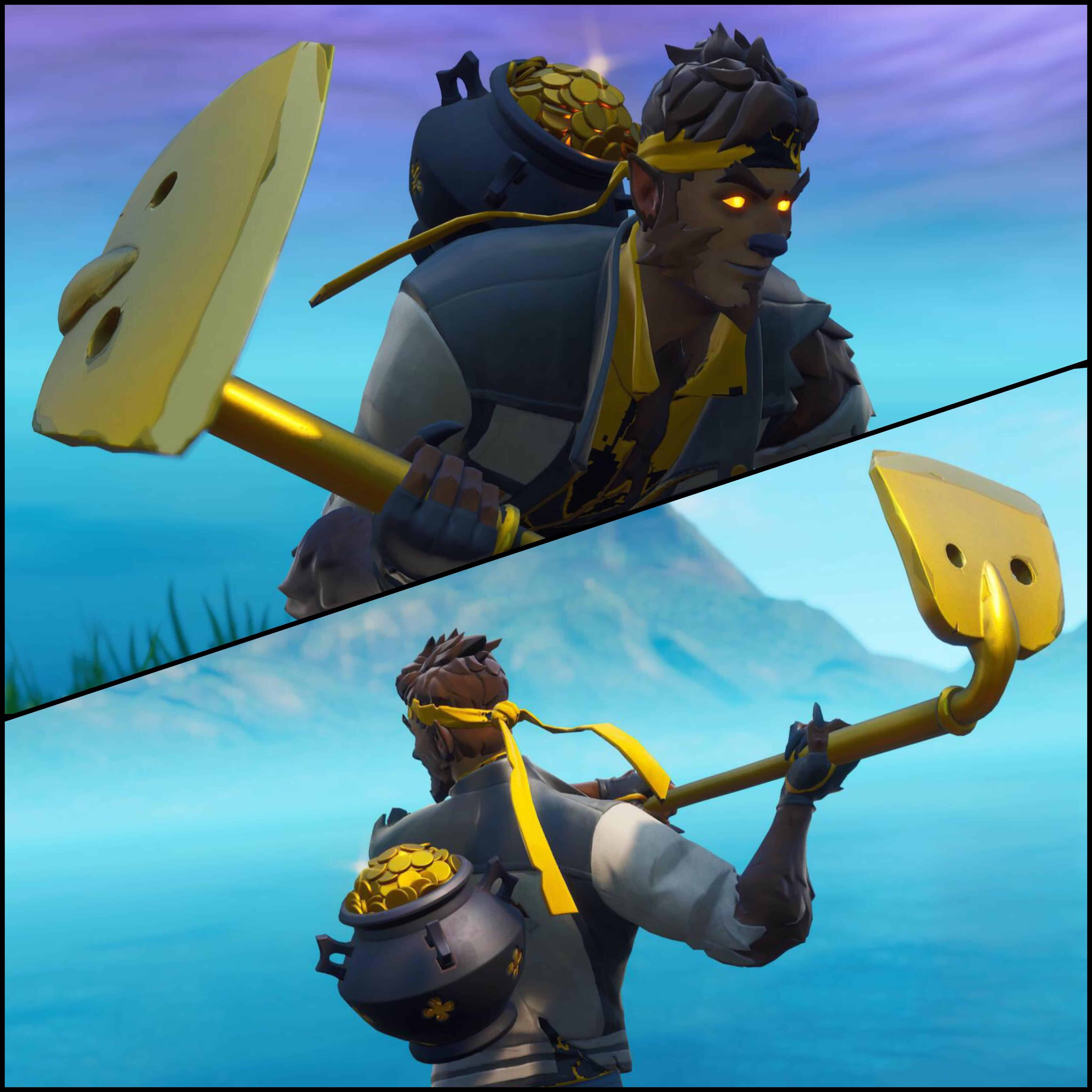 dire lucky coins gold digger fortnite combo outfit