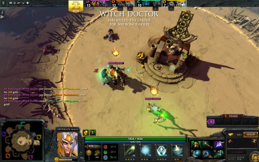 dota 2 overthrow best arcade game