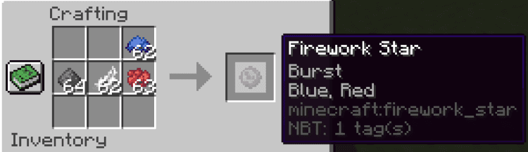 dye color crafting firework star best fireworks minecraft