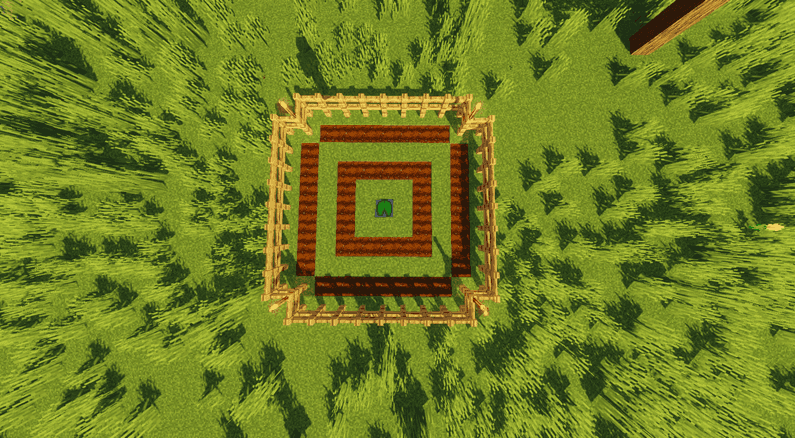 example 1 Melon and Pumpkin Farm layout minecraft