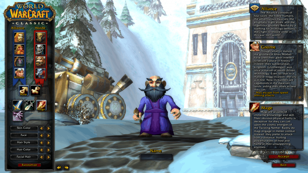 gnome best race for mage wow classic