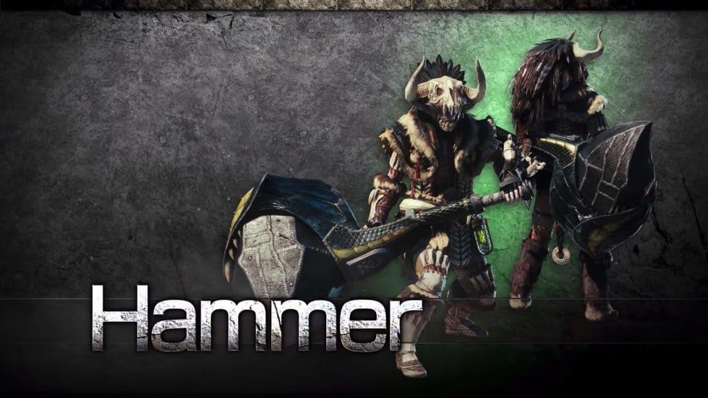 hammer monster hunter world weapon