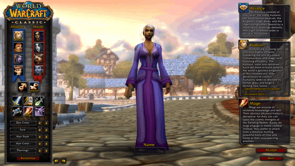 human best race for mage wow classic