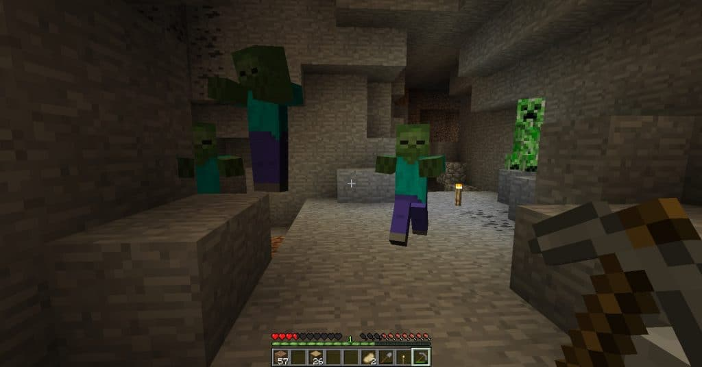 mobs minecraft is scary