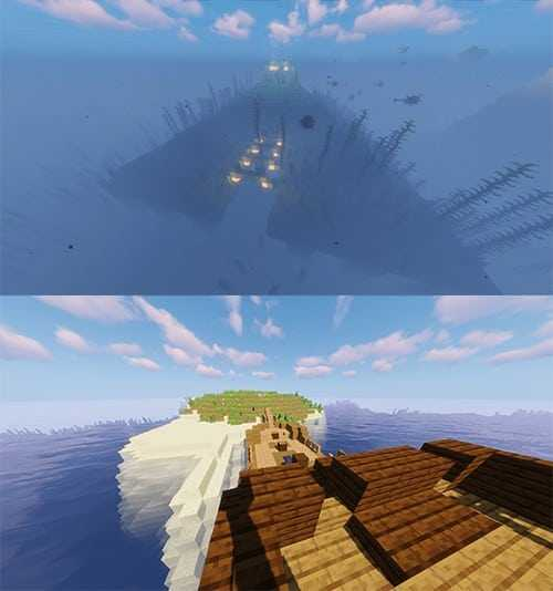ocean monuments shipwreck best island seeds minecraft