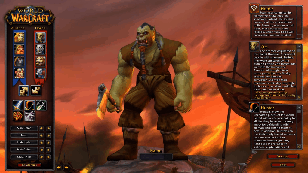 orc best hunter race wow classic